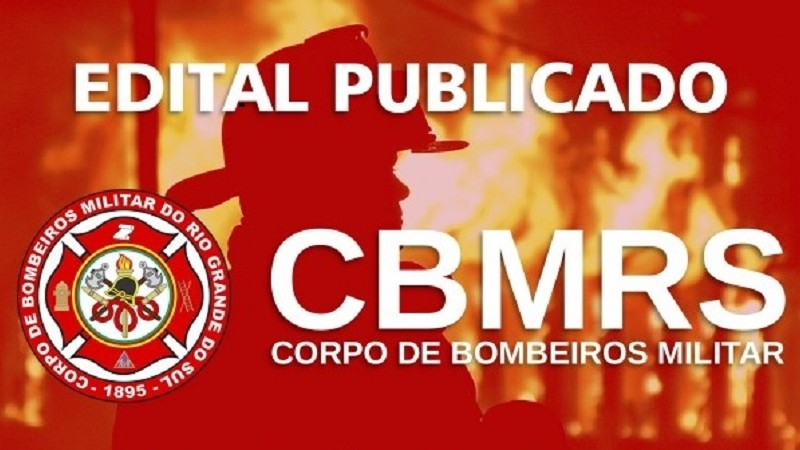 Publicado no Diário Oficial do Estado concurso para Oficial do CBMRS