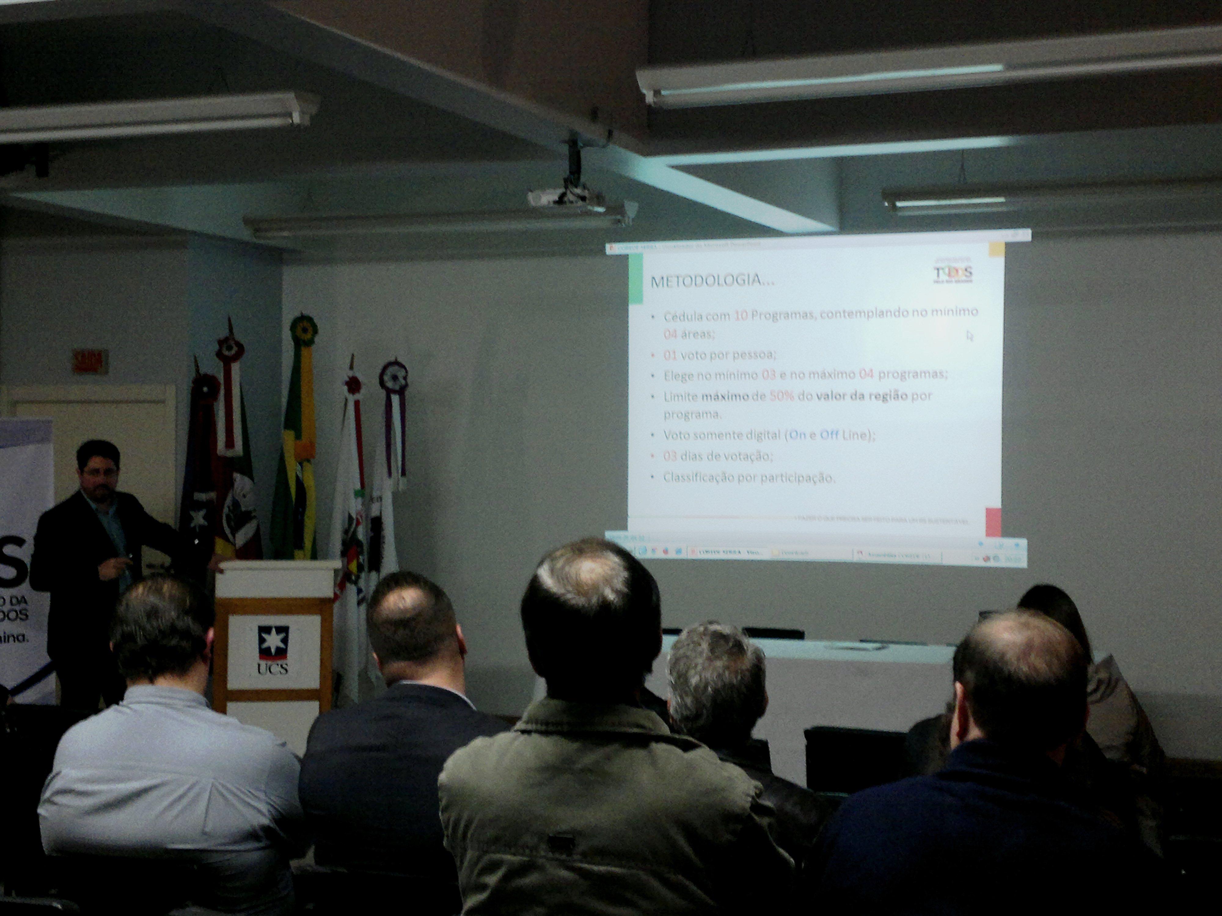 Audiência sobre a Consulta Popular ocorre quarta em Bento