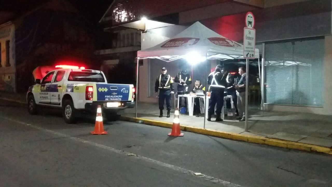 Balada Segura registra 18 autuações, dez por embriaguez ao volante em Bento