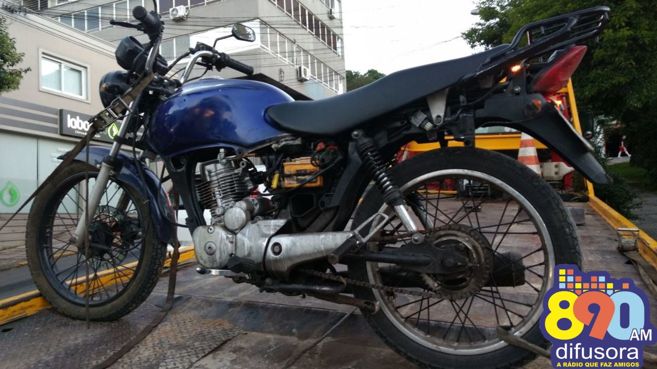 Motocicleta furtada é localizada nos Eucaliptos em Bento
