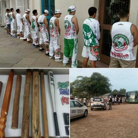 POE aborda torcida organizada acusada de arrastão em Veranópolis