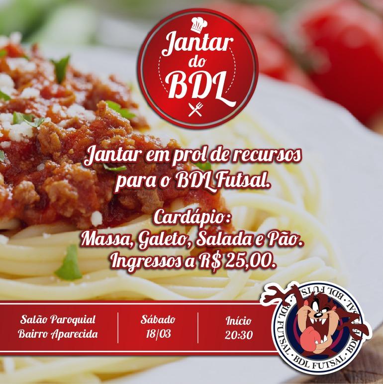 BDL Futsal promove jantar no Bairro Aparecida