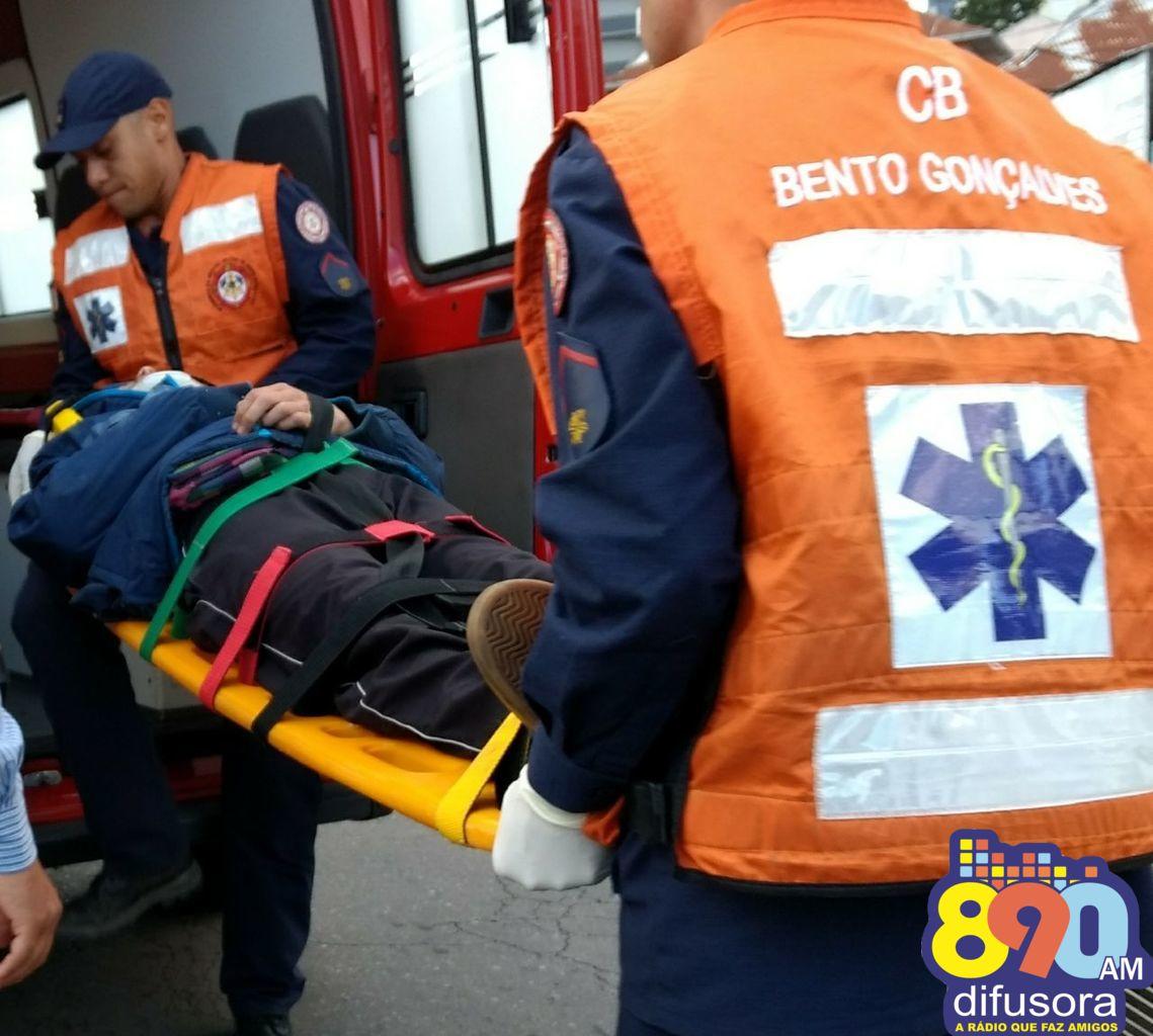 Motociclista fica ferido após colisão no bairro São Roque em Bento