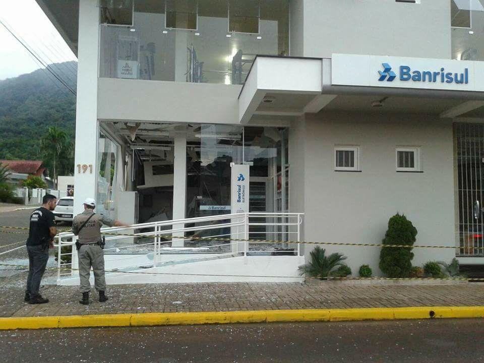 Bandidos atacam agência bancária em Vale Real, no Vale do Caí