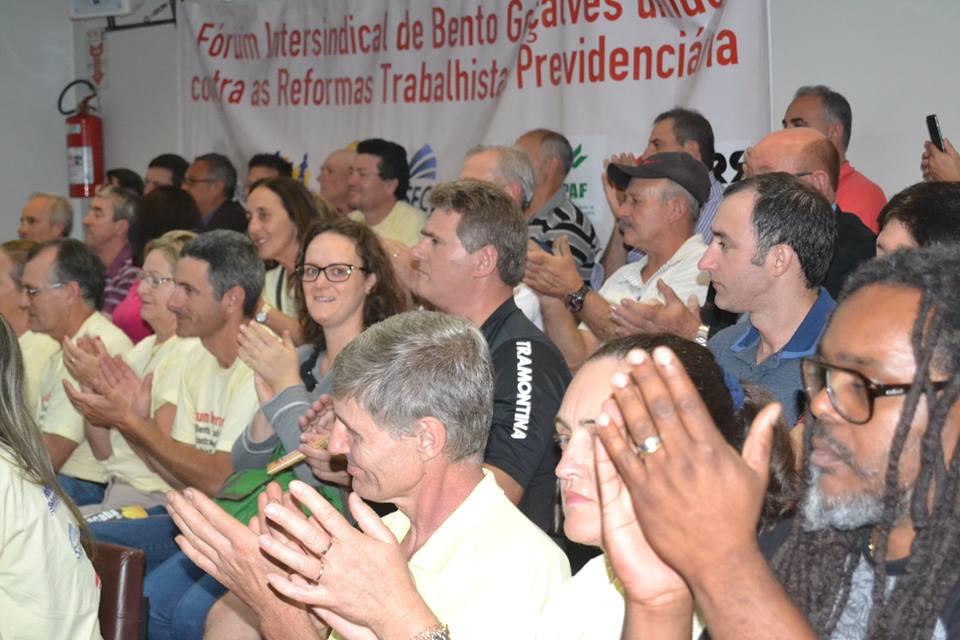 Fórum Sindical de Bento sai às ruas nesta sexta e apoia greve geral do País