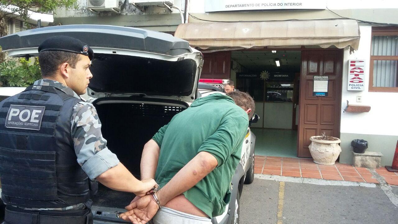 POE prende homem por tráfico em Bento