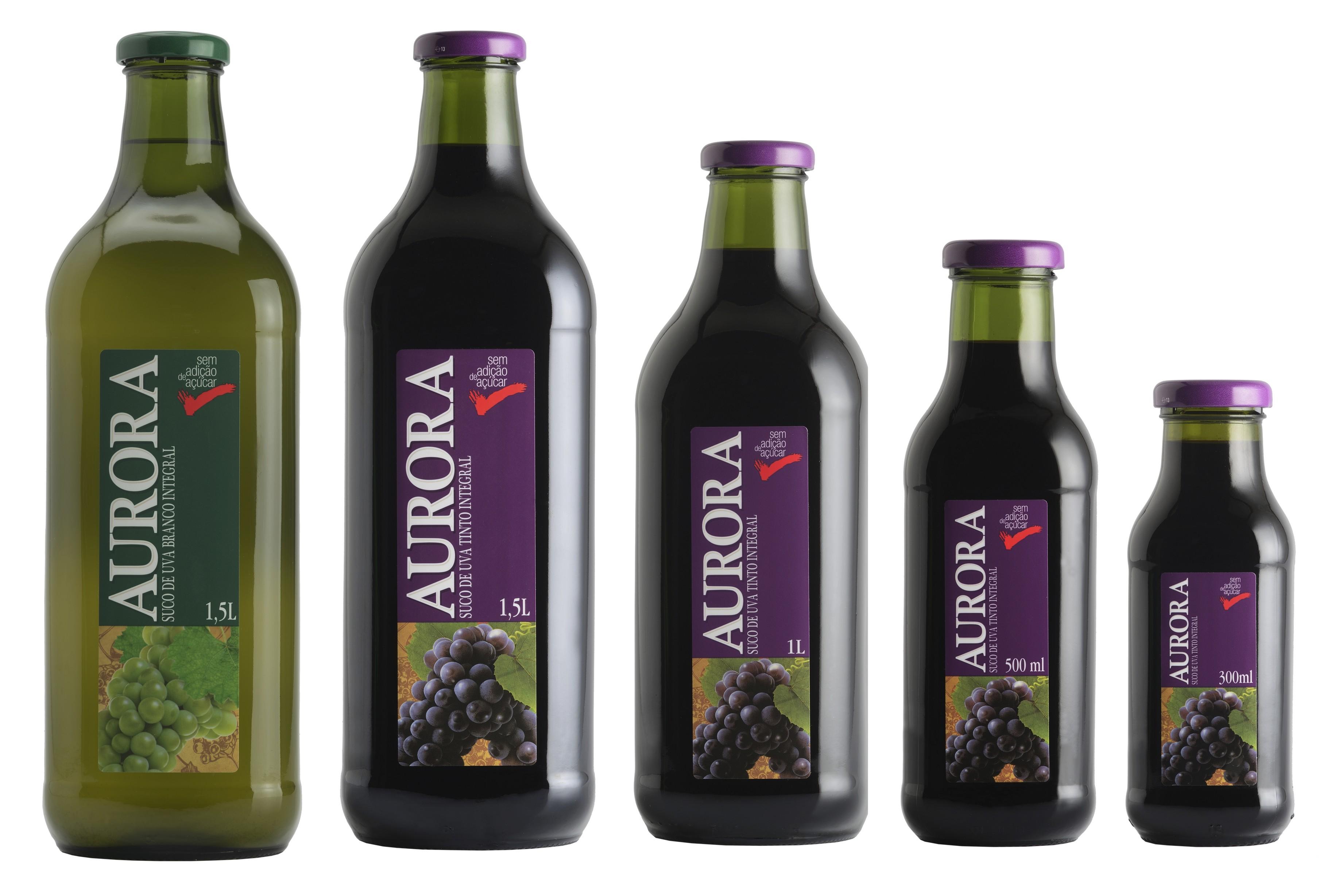Vinícola Aurora é a empresa líder em suco de uva integral e vinho branco no mercado brasileiro