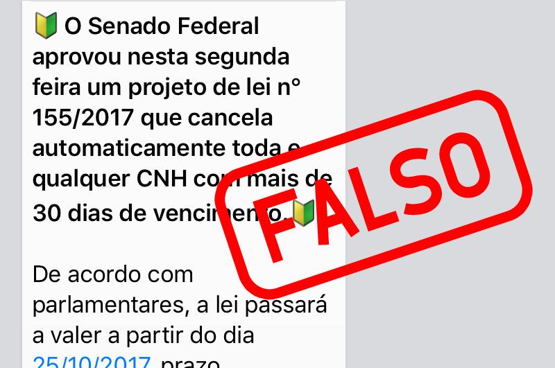 Detran/RS alerta para boato sobre cancelamento da CNH