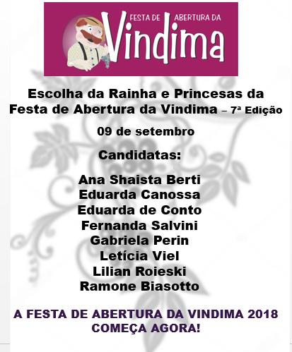 Oito candidatas confirmam inscrição para Rainha e Princesas da Vindima em Monte Belo