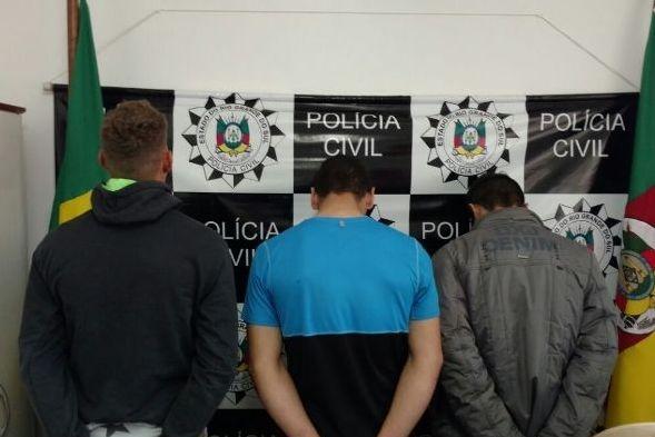 Polícia Civil prende em Passo Fundo três homens por roubo a joalheria em Guaporé