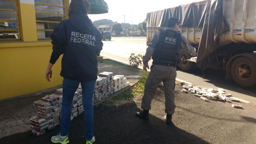 Apreendidos mais de 400 quilos de drogas em Portão