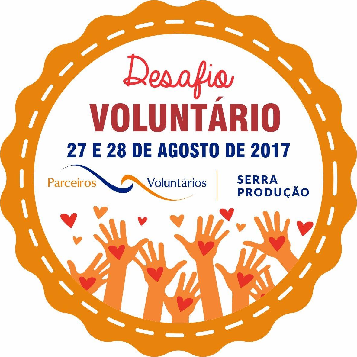 Desafio Voluntário ocorre nos dias 27 e 28 de agosto em Bento