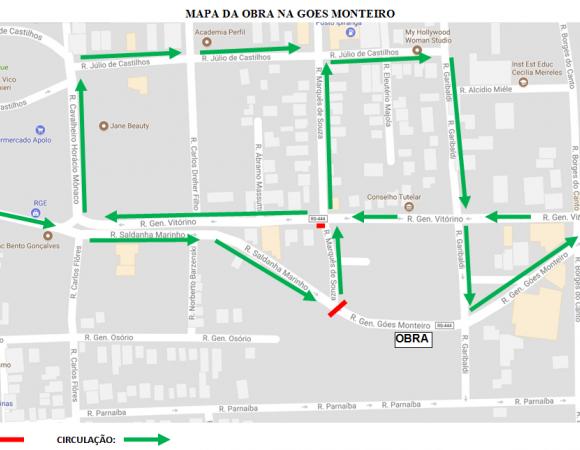 Secretaria informa bloqueio de via na terça-feira em Bento