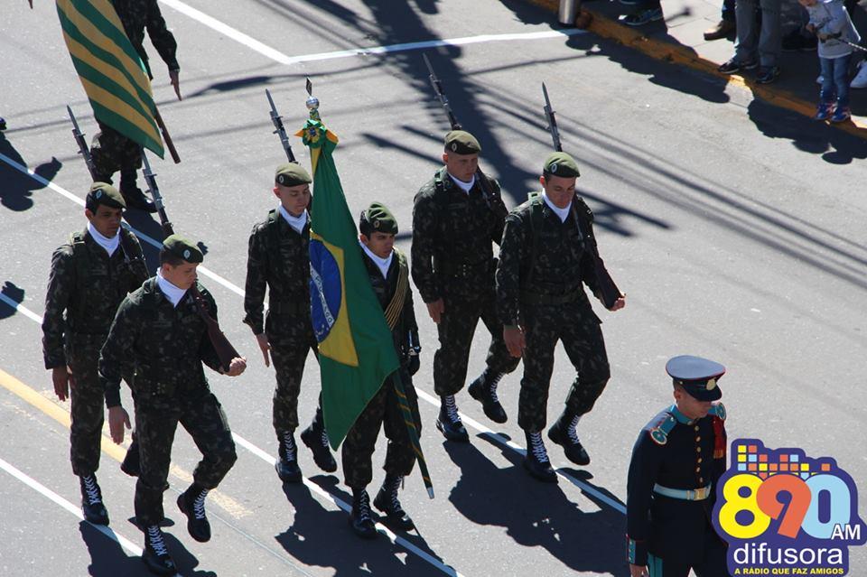 Desfile da Pátria em Bento será no centro, a partir das 9h, nesta quinta-feira
