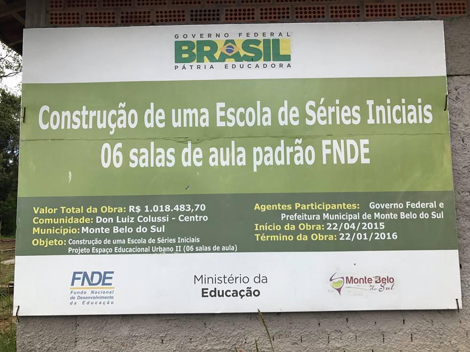 CPI de obra parada em escola inicia fase de depoimentos em Monte Belo