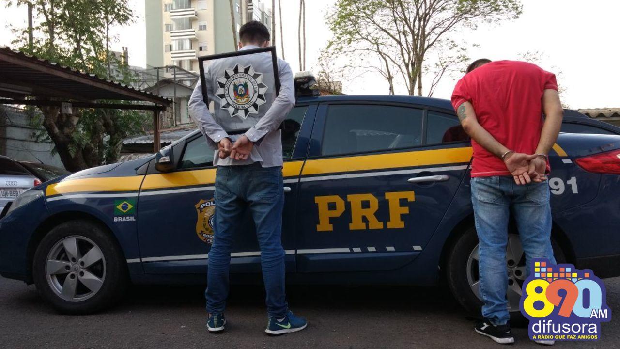 PRF e Polícia Civil prendem dupla de estelionatários em Bento Gonçalves