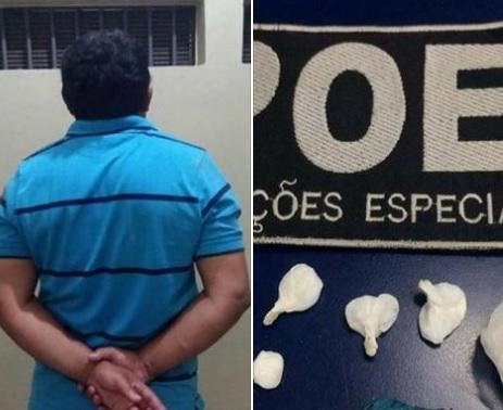 POE prende homem acusado de tráfico de drogas em Nova Prata
