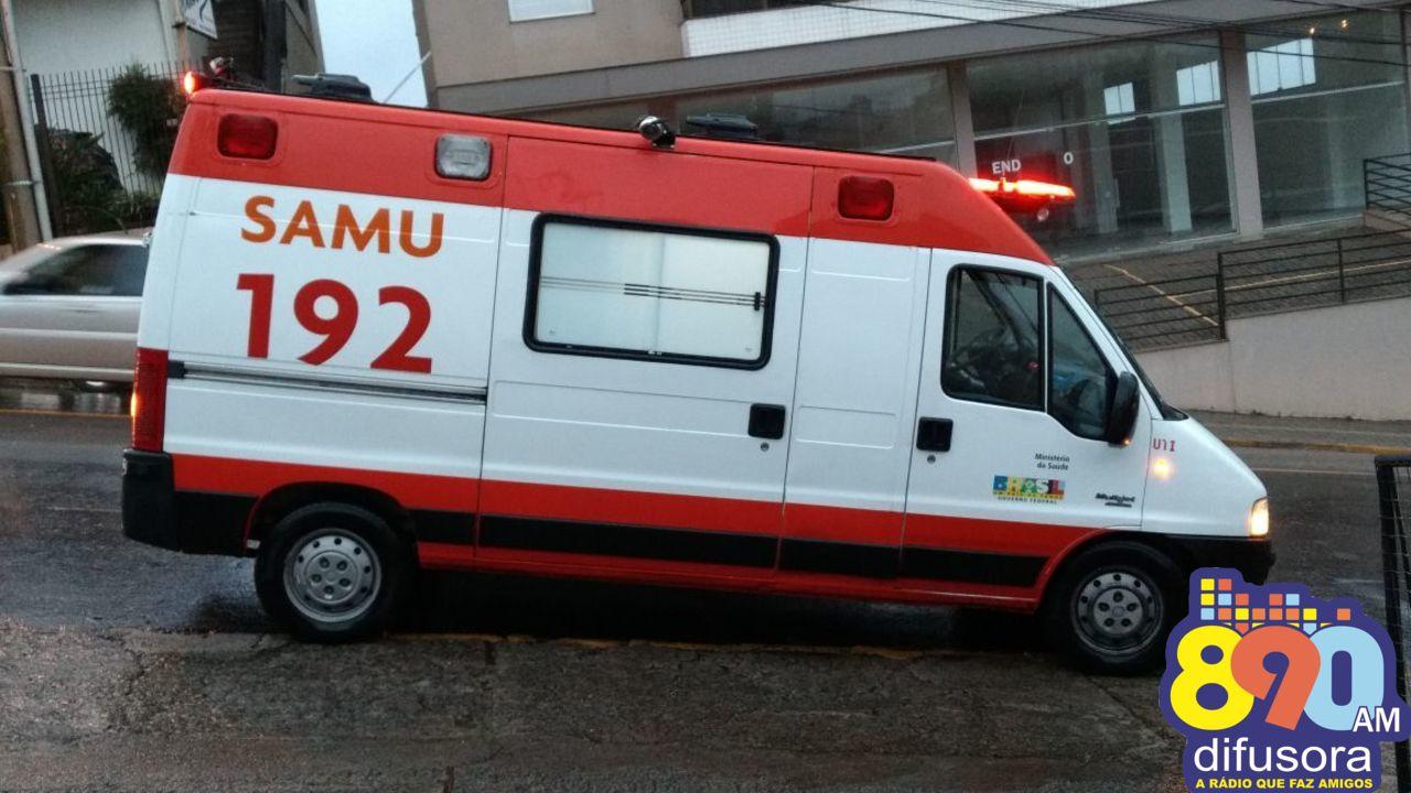 Motociclista fica ferido em acidente no Progresso em Bento