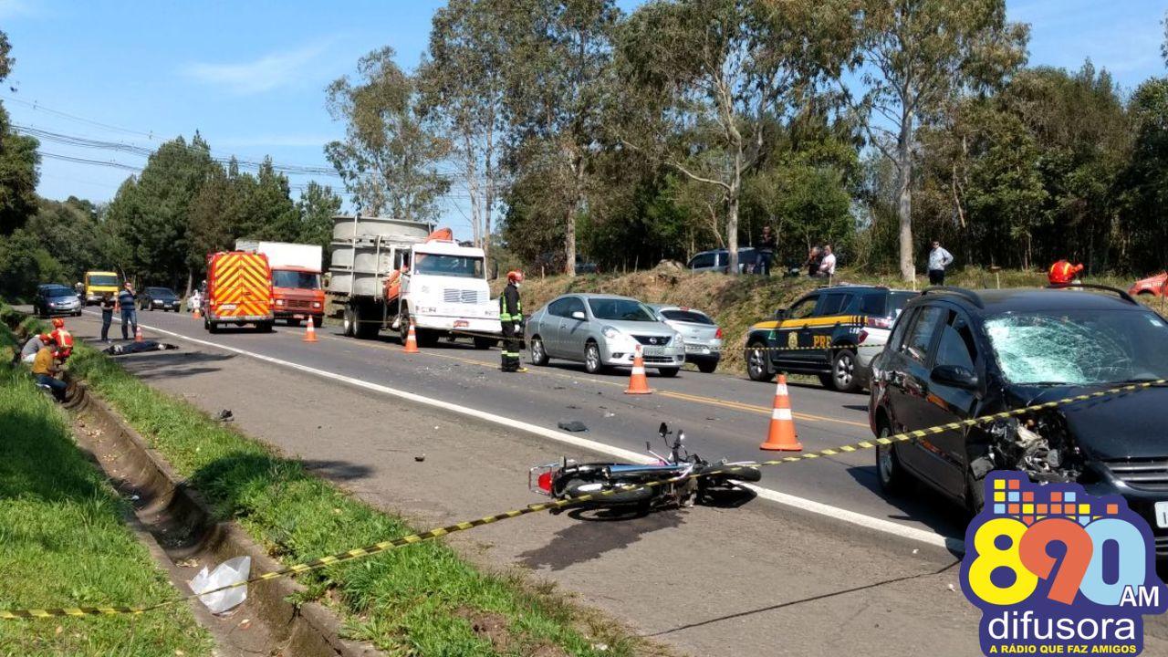Acidente mata jovem na BR 470 em Garibaldi