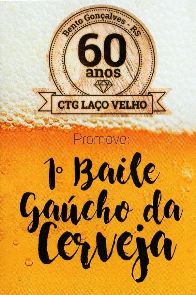 Contagem regressiva para o 1º Baile Gaúcho da Cerveja no CTG Laço Velho