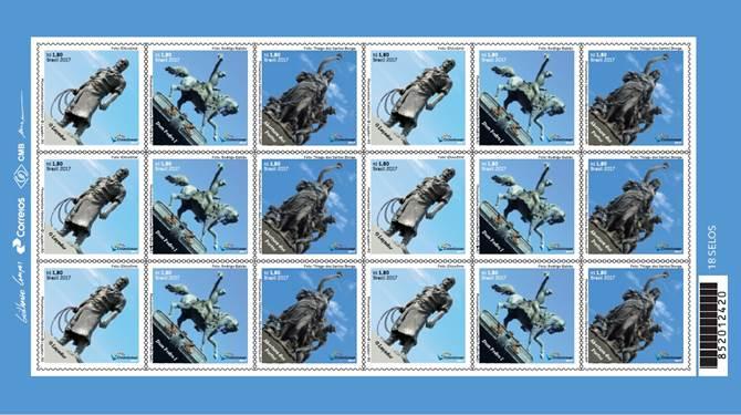 Monumento ao Laçador é destaque em selo lançado na noite de terça