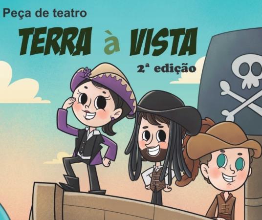 """Projeto Cultural """"Terra à Vista"""" apresenta peça teatral para estudantes de Bento"""