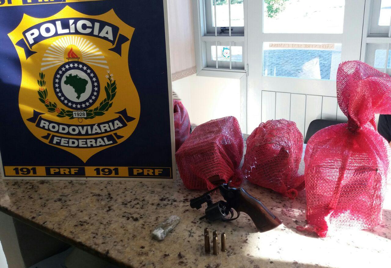 PRF prende homem por crime ambiental e porte ilegal de arma de fogo