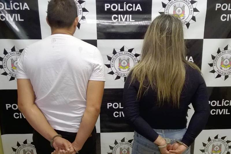 Polícia Civil prende duas pessoas extorsão qualificada em Bom Princípio