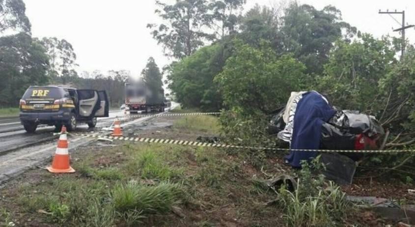 Família morre em acidente na BR-386 em Triunfo