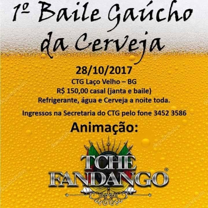 Baile Gaúcho da Cerveja ocorre neste sábado em Bento