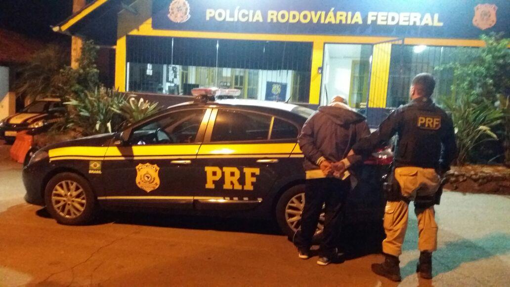 Foragido é preso em Operação da PRF na BR 470 em Garibaldi