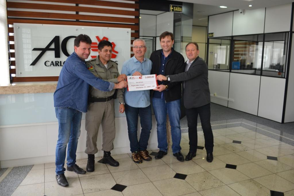 ACI entrega 5 mil reais para o Consepro