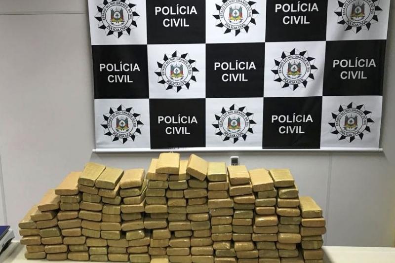 Polícia Civil apreende 130 quilos de maconha em Novo Hamburgo