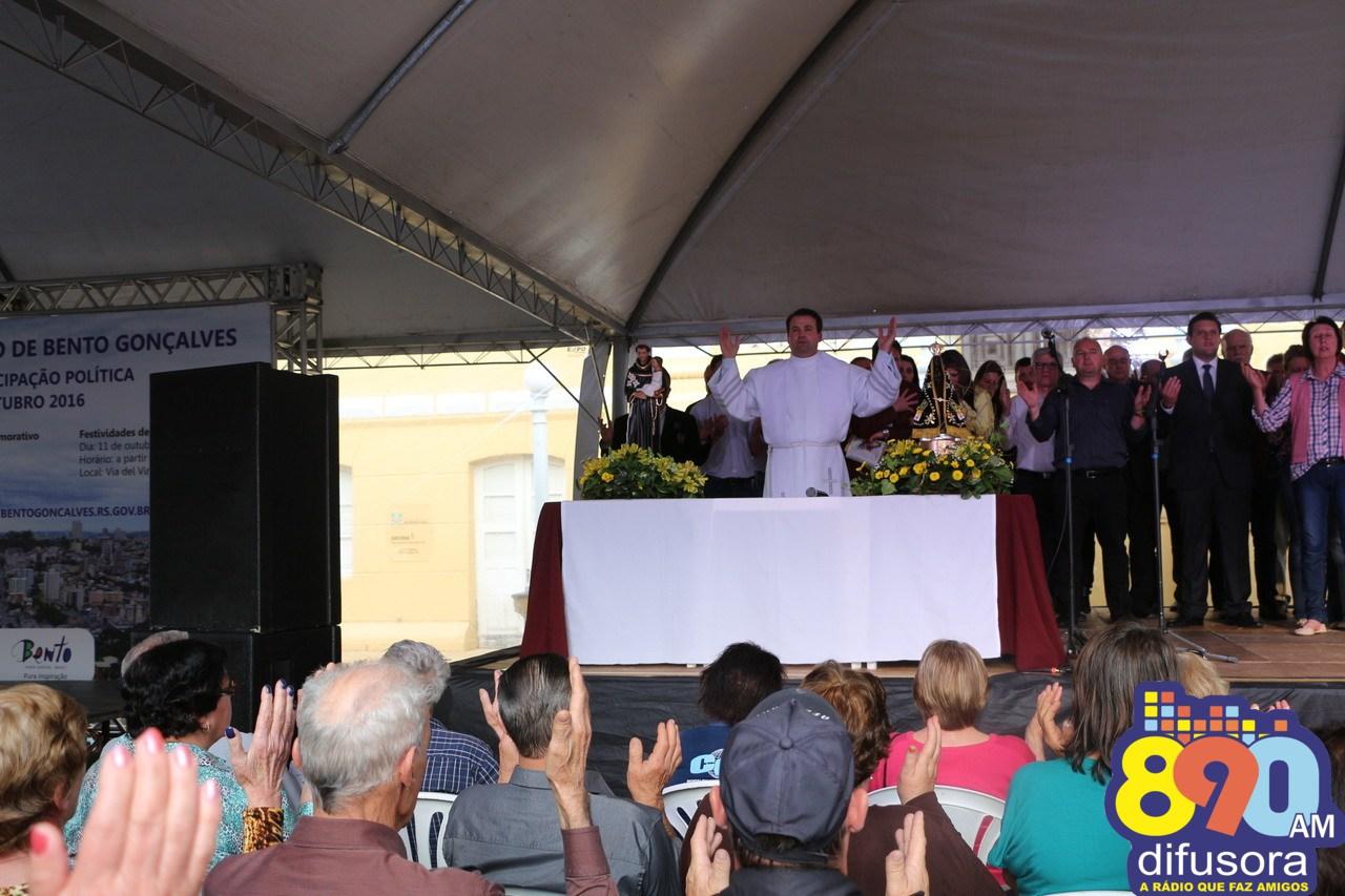 Missa de encerramento do Ano Mariano, ocorre dia 11, em frente a Prefeitura de Bento