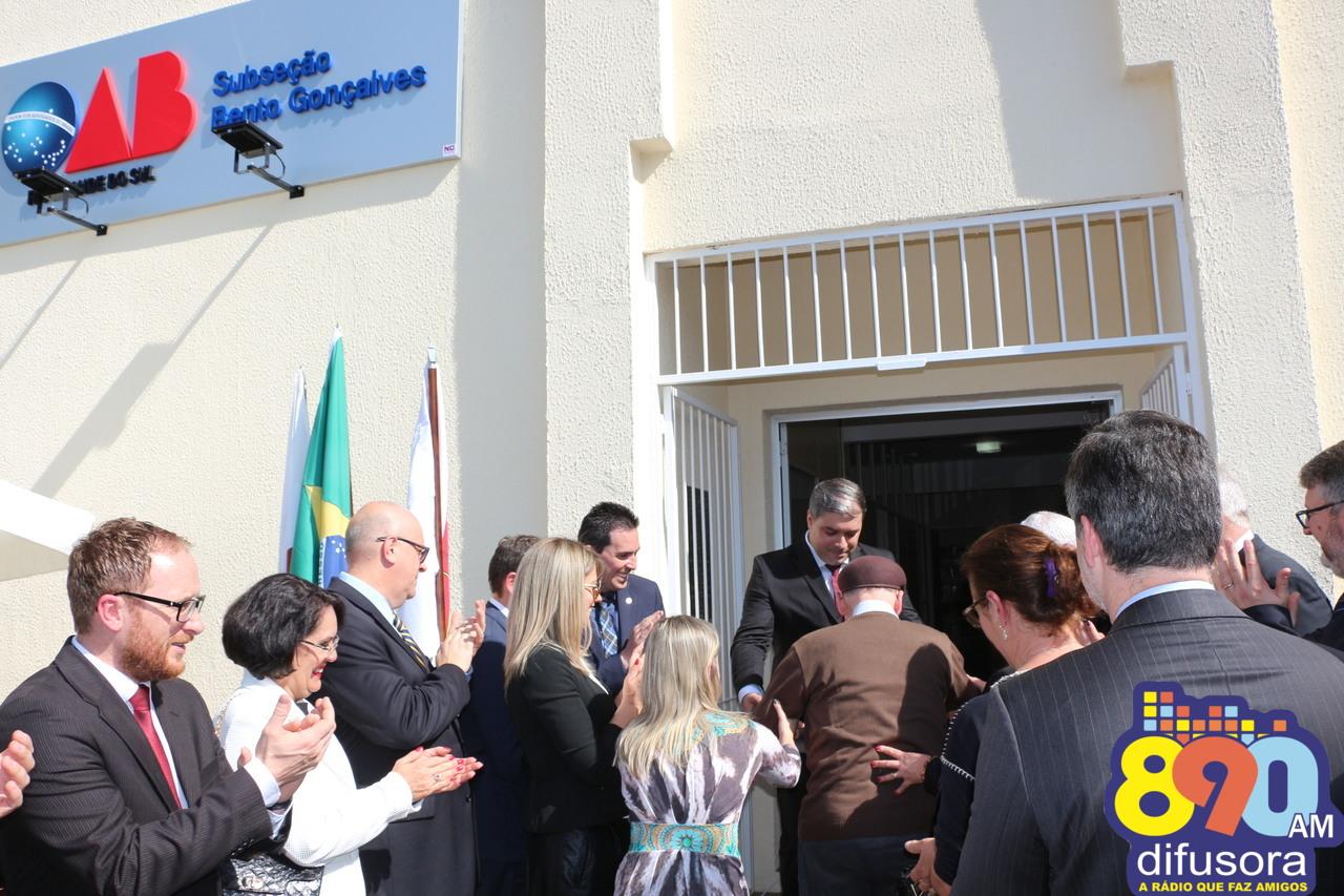 Reinaugurada sede da subseção da OAB de Bento Gonçalves