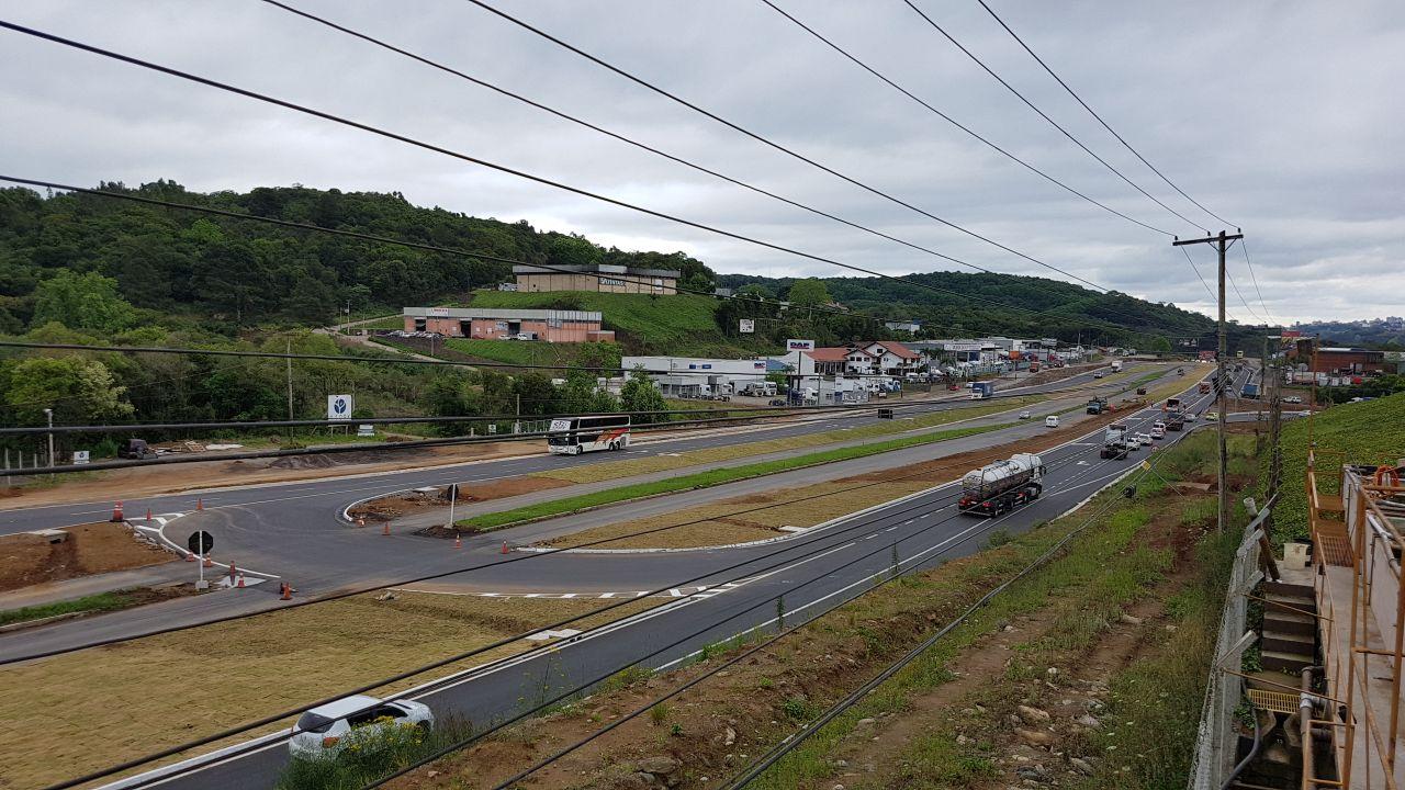 DNIT/RS libera trânsito na BR-470 no Trevo da Telasul em Garibaldi