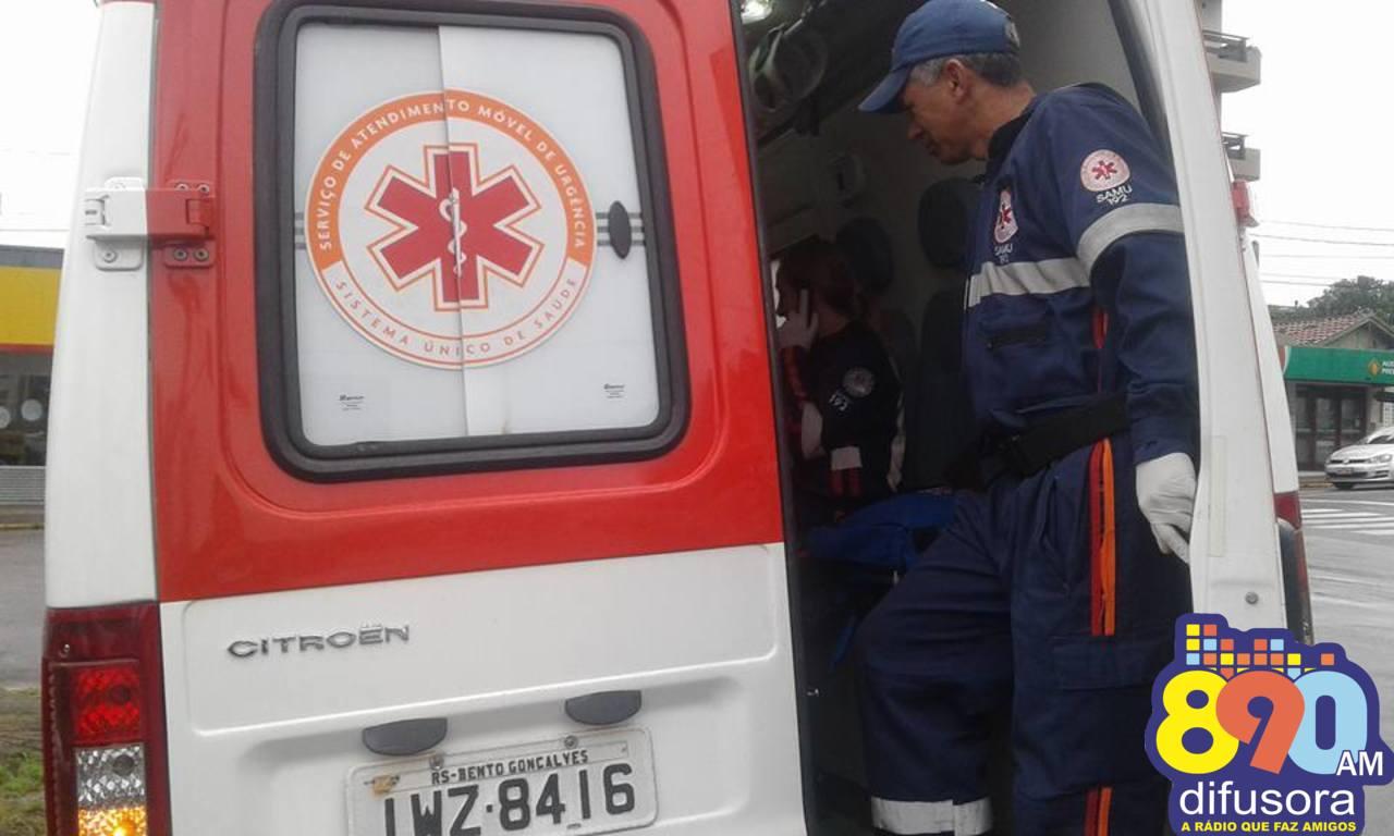 Jovem fica ferida após acidente de trânsito no Cidade Alta em Bento
