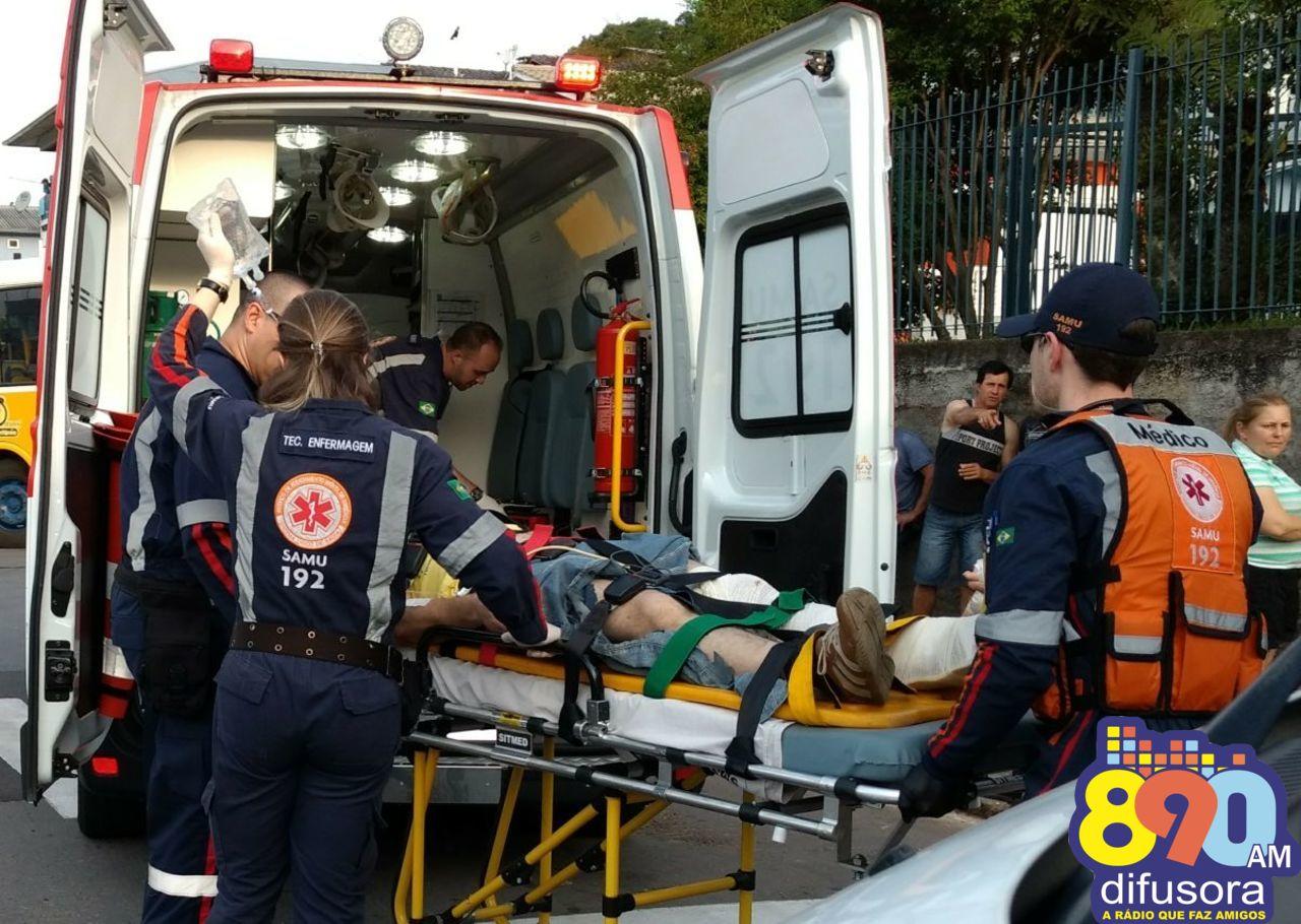 Motociclista fica ferido após acidente no Santa Helena em Bento