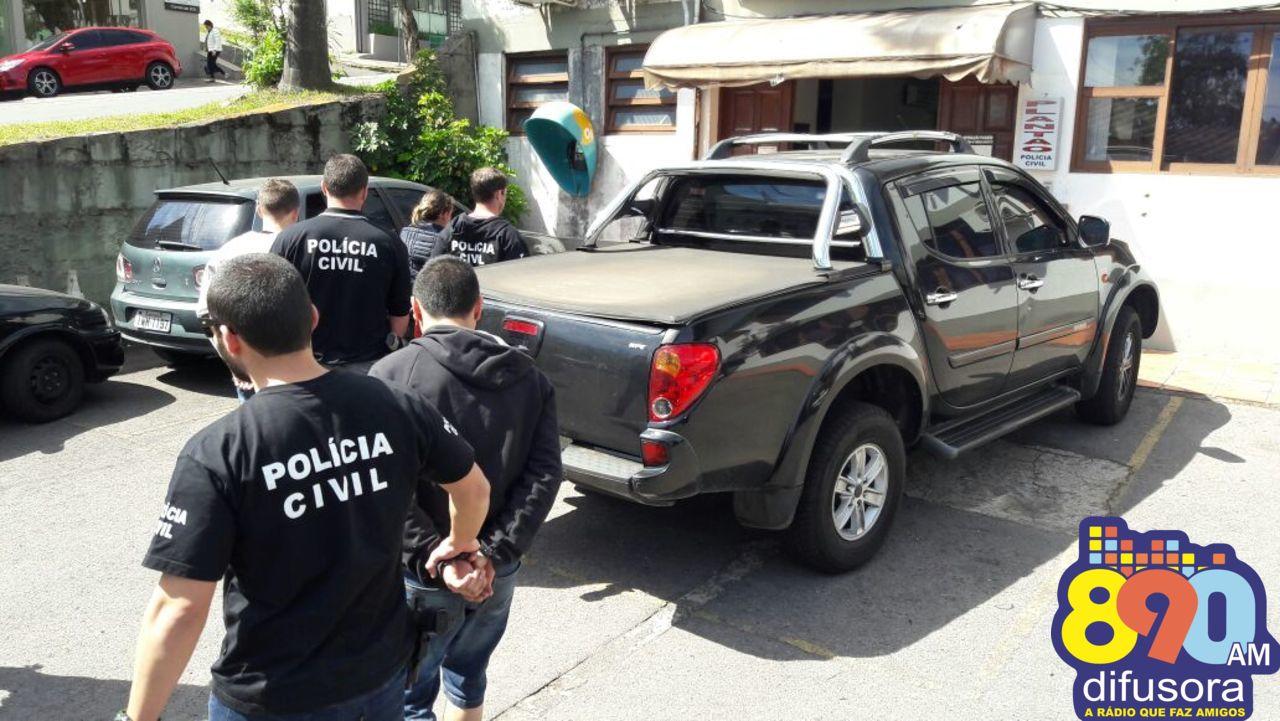Polícia Civil prende quadrilha por tráfico em Bento
