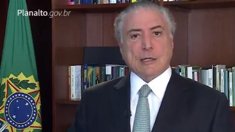 """""""A verdade venceu"""", diz Temer em vídeo ao agradecer deputados"""