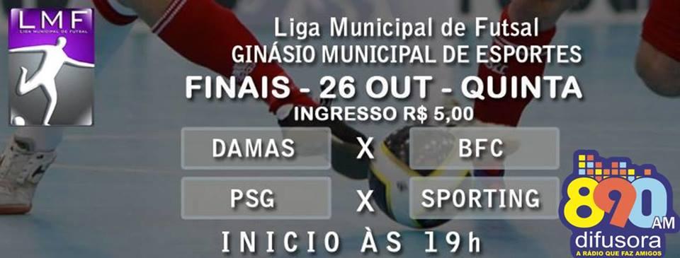PSG, Sporting no masculino e BFC, Damas de Ferro são os finalistas da Liga Municipal de Futsal em Bento