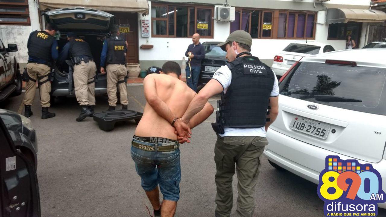 Trio suspeito de envolvimento em tentativa de assalto em São Valentim do Sul é preso em Bento
