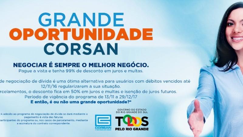 Corsan lança programa de negociação de dívidas