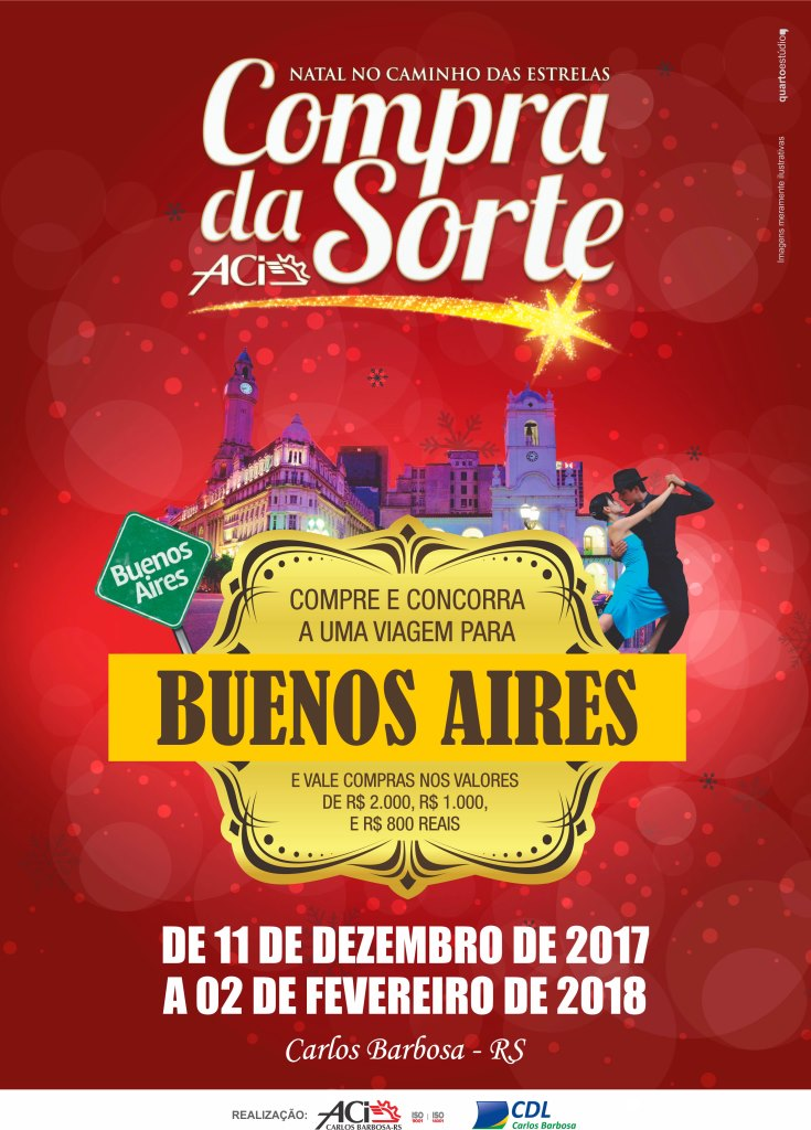 Compra da Sorte da ACI de Carlos Barbosa 'te leva para Buenos Aires'