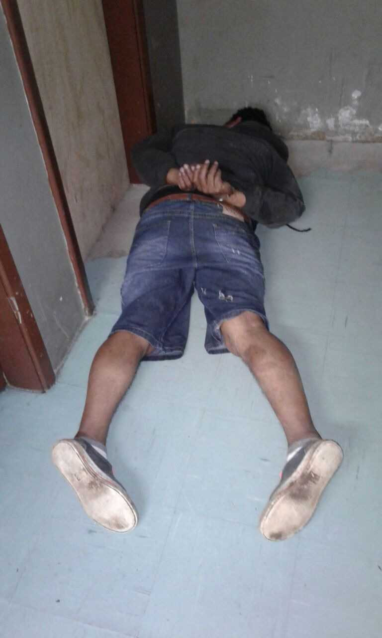 Homem preso por roubo a pedestre em Bento