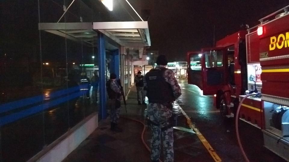 Bandidos atacam agência da CEF em Bento Gonçalves