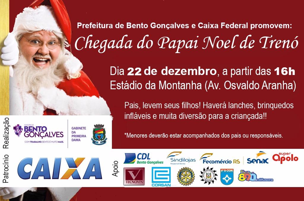 Chegada do Papai Noel será na sexta-feira em Bento