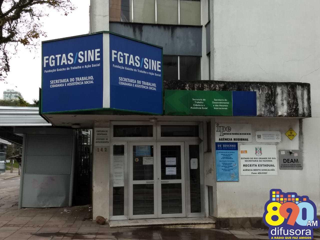 FGTAS/Sine de Bento oferta mais de 60 novas vagas na próxima semana
