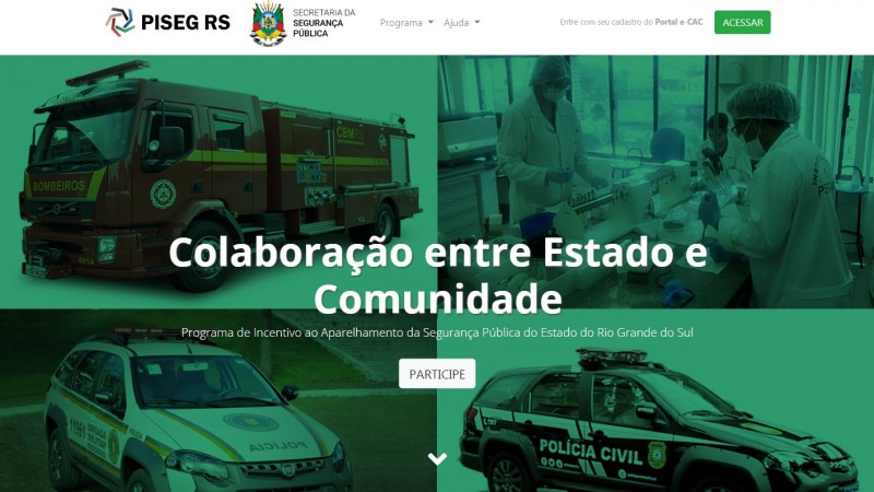 Site reúne projetos da Segurança que empresários podem destinar recursos do ICMS a pagar