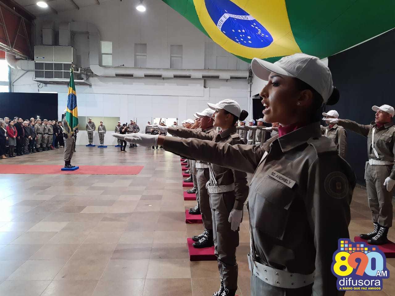 Novos soldados da Brigada Militar são formados em evento em Bento Gonçalves